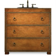 "Cole & Co. 36"" Designer Series Grayson Hall Chest - Burnished medium Robus leather 11.22.275536.62"