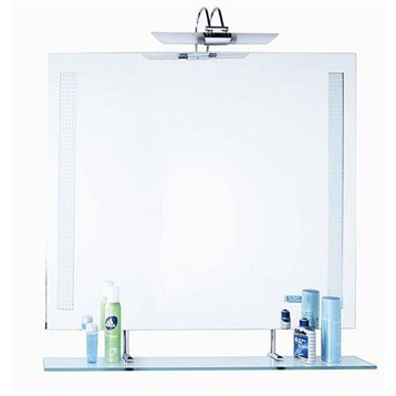Slt151 bathroom mirror with glass shelf 35 x 28 free shipping modern bathroom - Contemporary bathroom mirror with glass shelf ...