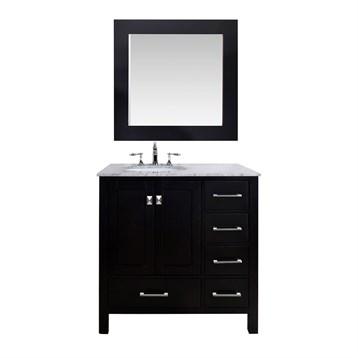 """Stufurhome 36"""" Lissa Single Sink Bathroom Vanity, Espresso GM-6412-36-ESP by Stufurhome"""