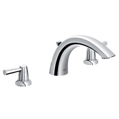 Grohe Arden 3-Hole Roman Tub Filler - Infinity Brushed Nickel
