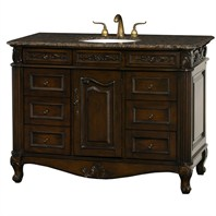 "Colonia 48"" Antique Bathroom Vanity with Drawers - Dark Cherry H10150-D-48-DKCH"