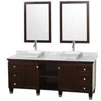 "Premiere 72"" Bathroom Double Vanity Set by Wyndham Collection - Espresso WC-CG5000-72-ESP"