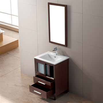 Elegant Bath Gt Bathroom Vanities Gt WORTHINGTON 24 INCH ESPRESSO BATHROOM