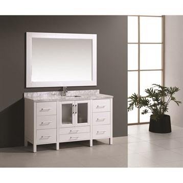 "Design Element Stanton 60"" Single Modern Bathroom Vanity Set, White B60-DS-W by Design Element"