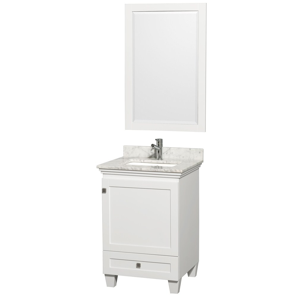 Acclaim 24 inch Single Bathroom Vanity by Wyndham Collection White