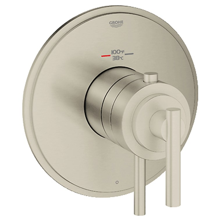 Grohe Atrio Single Function Thermostatic Trim with Control Module - Brushed Nickel GRO 19848EN0