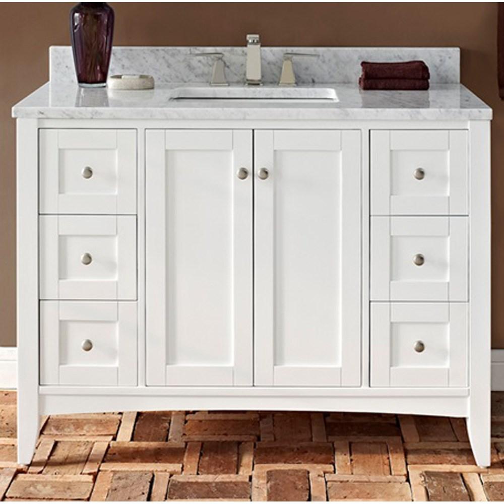 "Fairmont Designs Shaker Americana 48"" Vanity for 1-1/4"" Thick Top - Polar Whitenohtin Sale $1495.00 SKU: 1512-V48-- :"