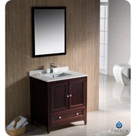 "Fresca Oxford 30"" Traditional Bathroom Vanity - Mahogany FVN2030MH"