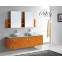 "Virtu USA Clarissa 72"" Double Sink Bathroom Vanity - Honey Oak MD-415"