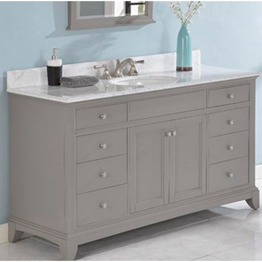 Fairmont Designs Smithfield 60 Vanity Medium Gray Free Shipping Modern Bathroom