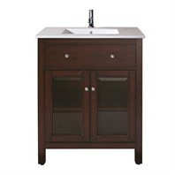 "Avanity Lexington 24"" Bathroom Vanity with Integrated VC counter and sink - Light Espresso LEXINGTON-VS24-LE"