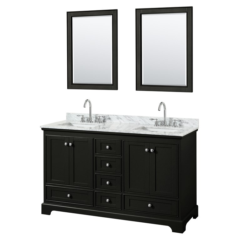"Deborah 60"" Double Bathroom Vanity by Wyndham Collection - Dark Espresso WC-2020-60-DBL-VAN-DES"