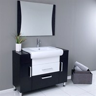 Fresca Vita Modern Bathroom Vanity with Wenge Wood Finish FVN3013WG