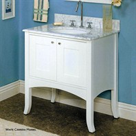 "Fairmont Designs 30"" Lifestyle Collection Shaker II Vanity - Polar White"