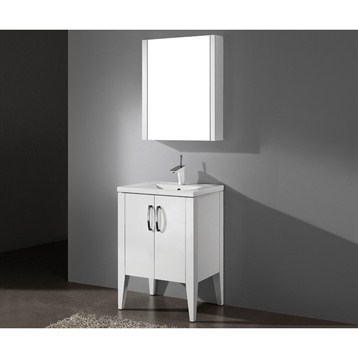 "Madeli Caserta 24"" Bathroom Vanity with Integrated Basin, Glossy White B918-24-001-GW by Madeli"