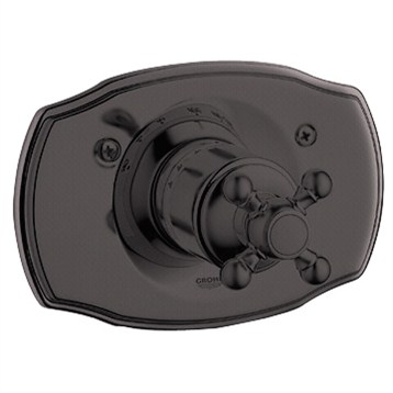 Grohe Geneva Thermostat Trim with Cross Handle, Oil Rubbed Bronze by GROHE
