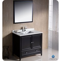 "Fresca Oxford 36"" Traditional Bathroom Vanity - Espresso FVN2036ES"