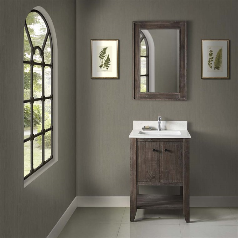 "Fairmont Designs River View 24"" Open Shelf Vanity - Coffee Bean 1516-VH24"