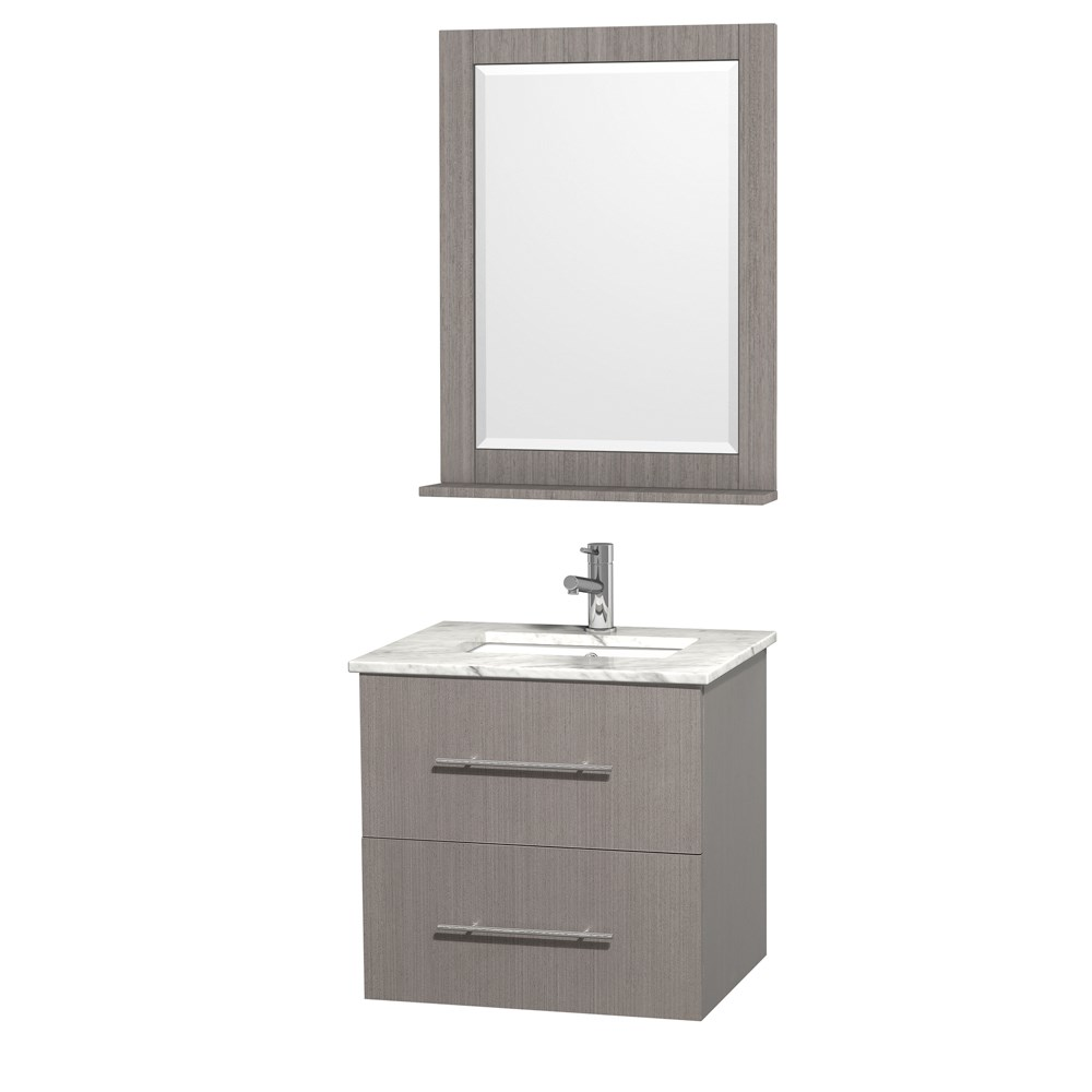 "Centra 24"" Single Bathroom Vanity for Undermount Sinks by Wyndham Collection - Gray Oaknohtin Sale $749.00 SKU: WC-WHE009-24-SGL-VAN-GRO- :"