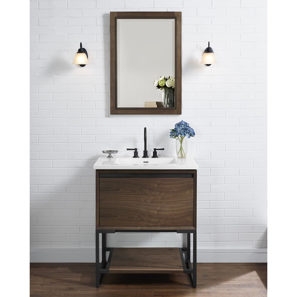 "Fairmont Designs M4 30"" Vanity for Integrated Sinktop - Natural Walnutnohtin Sale $1191.00 SKU: 1505-V30- :"