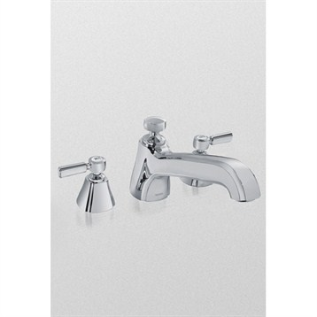 Toto Guinevere Deck Mount Lever Handle Faucet, Polished Chrome TB970DD1.CP by Toto