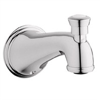 Grohe Geneva Tub Spout with Diverter - Sterling Infinity Finish