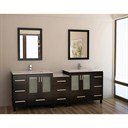 "Design Element Galatian 88"" Double Sink Vanity Set - Espresso DEC360-DS"