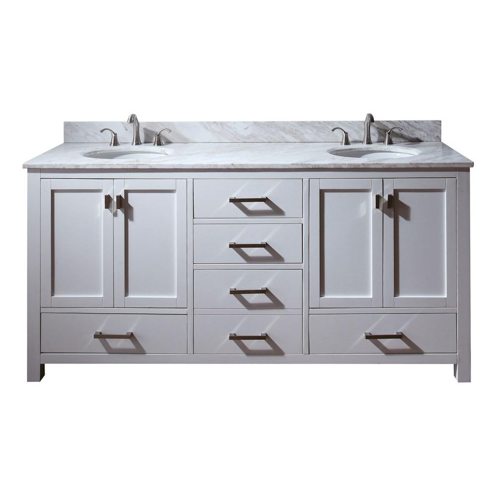 "Avanity Modero 72"" Double Bathroom Vanity - Whitenohtin Sale $1292.00 SKU: MODERO-72-WT :"