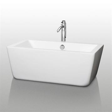 """Laura 59"""" Small Soaking Bathtub by Wyndham Collection WC-BT1005-59 by Wyndham Collection®"""