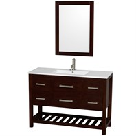 "Natalie 48"" Single Bathroom Vanity Set by Wyndham Collection - Espresso WC-2111-48-SGL-VAN-ESP"