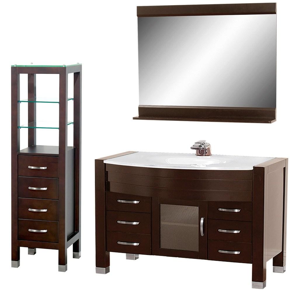 "Daytona 55"" Bathroom Vanity Set - Espressonohtin Sale $1697.00 SKU: A-W2109-55-ESP-SET :"