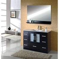 "Virtu USA Zola 48"" Single Sink Bathroom Vanity - Espresso MS-6748-C-ES"