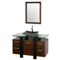 "Greenwich 48"" Single Bathroom Vanity - Walnut CGD001-48-WAL"