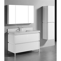 "Madeli Metro 48"" Single Bathroom Vanity for Quartzstone Top - Glossy White B600-48C-001-GW-QUARTZ"