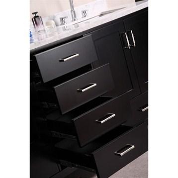 Design element london 72 double vanity with bottom - Bathroom vanity with bottom drawer ...