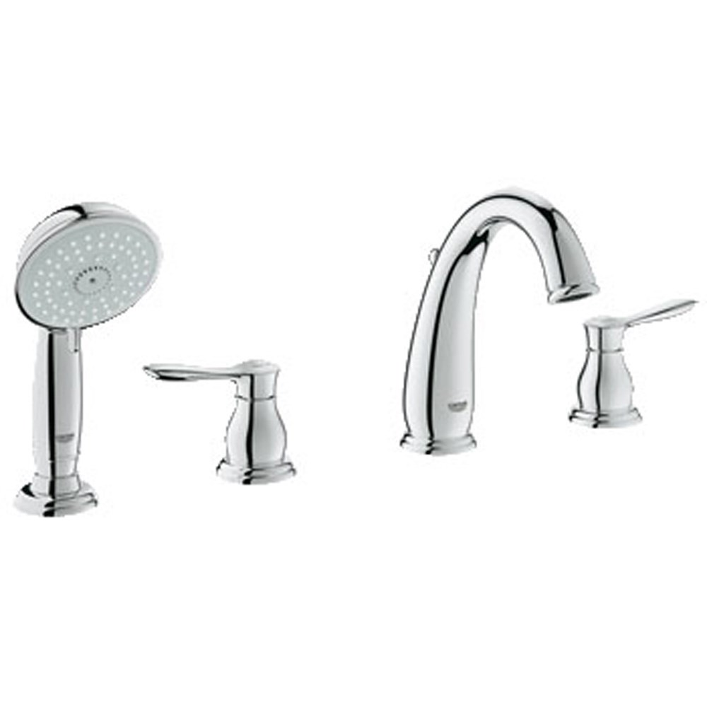 Grohe Parkfield 4-Hole Roman Tub Combination - Starlight Chromenohtin Sale $590.99 SKU: GRO 25153000 :