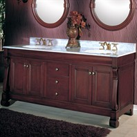 "Fairmont Designs 72"" Traditional Collection Victoria Double Vanity - Dark Cherry"