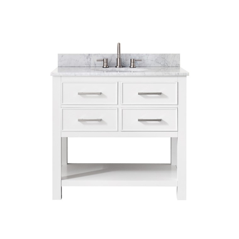 "Avanity Brooks 36"" Single Bathroom Vanity - White BROOKS-36-WT"