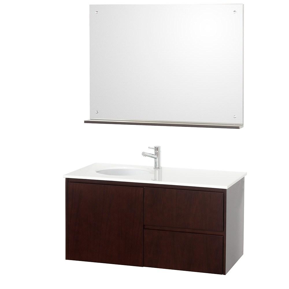 "Wall Bathroom Vanity: Fellino 42"" Wall Mounted Bathroom Vanity Set"