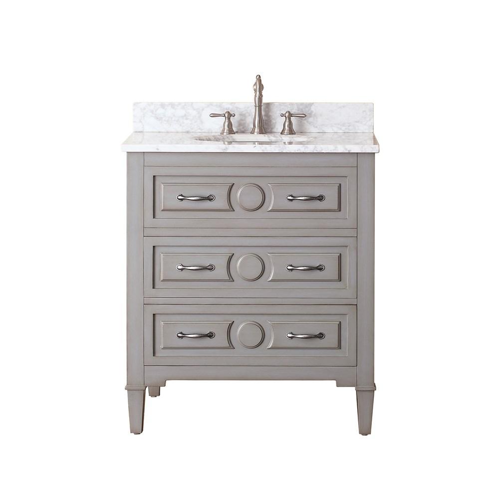 Avanity Kelly 30 Single Bathroom Vanity Grayish Blue Free Shipping Modern