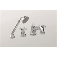 TOTO Vivian Deck-Mount Tub Filler Trim with Cross Handles - and Handshower TB220S