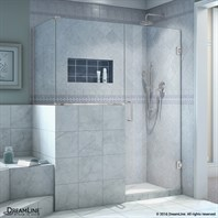 "DreamLine Unidoor Plus 47 - 48"" Hinged Shower Enclosure with 24"" W Inline Buttress Panel SHEN-24BUTTRESS"