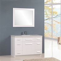 "Design Element Moscony 48"" Single Sink Vanity Set - White J48-DS-W"
