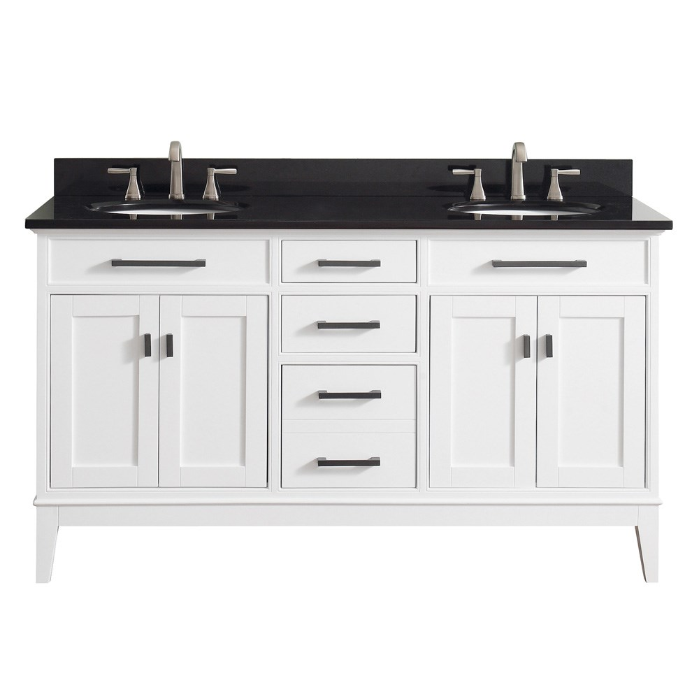 "Avanity Madison 60"" Double Bathroom Vanity - White"