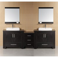 "Design Element Washington 92"" Modern Bathroom Vanity - Espresso DEC083-E"