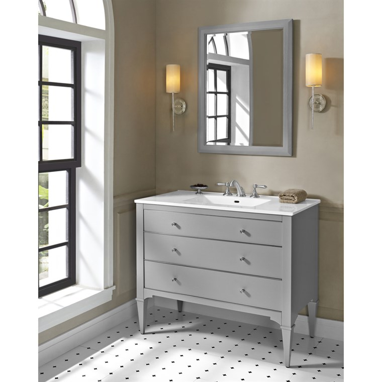 "Fairmont Designs Charlottesville 42"" Vanity for Integrated Sinktop - Light Gray 1510-V42-"