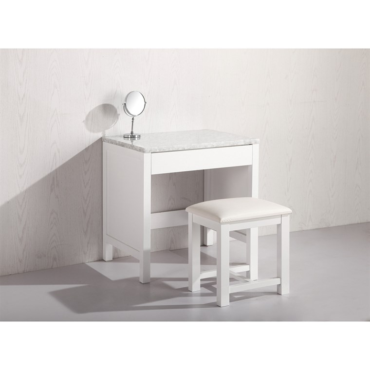 Design Element Make-up Table with Seat - White MUT-W