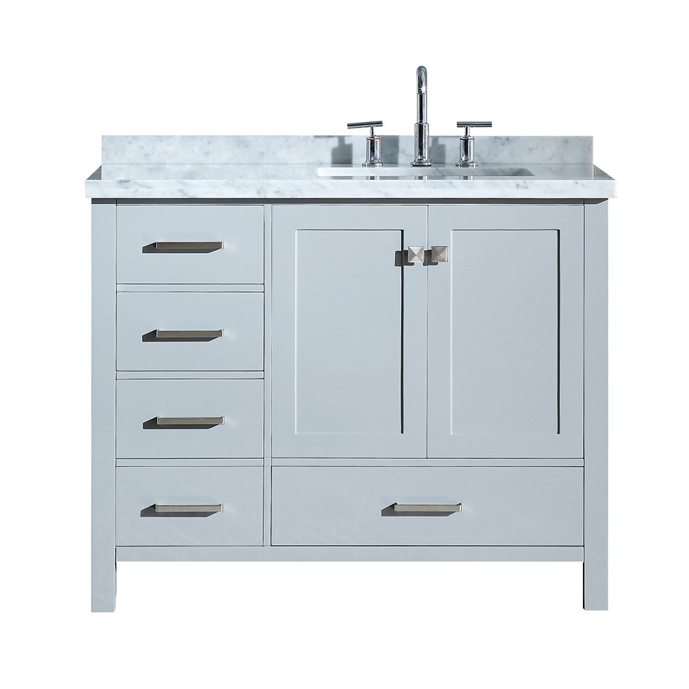 Right Offset Sink Vanity Bathroom All In One