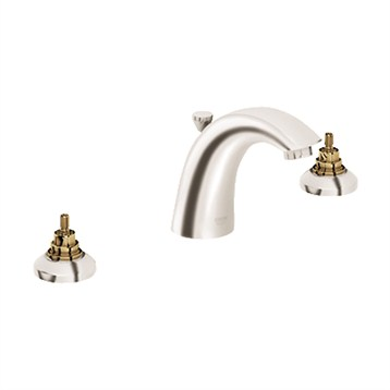 Grohe Arden Lavatory Wideset, Infinity Brushed Nickel GRO 20121EN1 by GROHE
