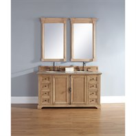 "James Martin 60"" Providence Double Cabinet Vanity - Natural Oak 238-105-5621"